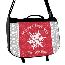 Snowflakes Messenger Bag (Personalized)