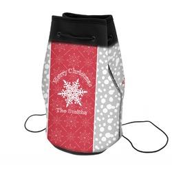 Snowflakes Neoprene Drawstring Backpack (Personalized)