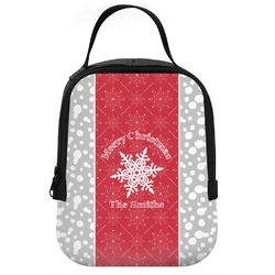 Snowflakes Neoprene Lunch Tote (Personalized)