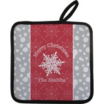 Snowflakes Pot Holder w/ Name or Text