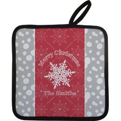 Snowflakes Pot Holder w/ Name or Text