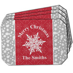 Snowflakes Dining Table Mat - Octagon w/ Name or Text