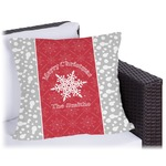 Snowflakes Outdoor Pillow (Personalized)