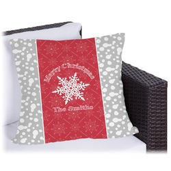 """Snowflakes Outdoor Pillow - 18"""" (Personalized)"""