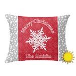 Snowflakes Outdoor Throw Pillow (Rectangular) (Personalized)