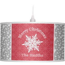 Snowflakes Drum Pendant Lamp (Personalized)