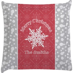 Snowflakes Euro Sham Pillow Case (Personalized)