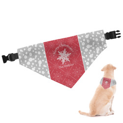 Snowflakes Dog Bandana (Personalized)