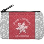 Snowflakes Rectangular Coin Purse (Personalized)