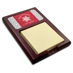 Snowflakes Red Mahogany Sticky Note Holder (Personalized)