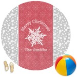 Snowflakes Round Beach Towel (Personalized)