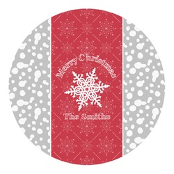 Snowflakes Round Decal - Custom Size (Personalized)