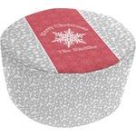 Snowflakes Round Pouf Ottoman (Personalized)
