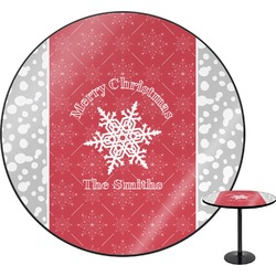 "Snowflakes Round Table - 30"" (Personalized)"