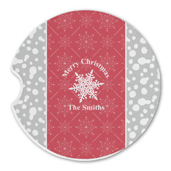 Snowflakes Sandstone Car Coasters (Personalized)