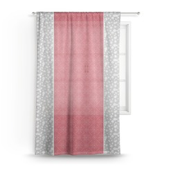 Snowflakes Sheer Curtains (Personalized)