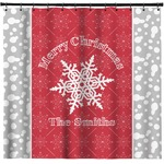 Snowflakes Shower Curtain (Personalized)