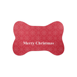 Snowflakes Bone Shaped Dog Food Mat (Small) (Personalized)