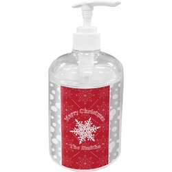 Snowflakes Acrylic Soap & Lotion Bottle (Personalized)