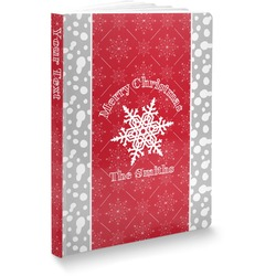 """Snowflakes Softbound Notebook - 5.75"""" x 8"""" (Personalized)"""