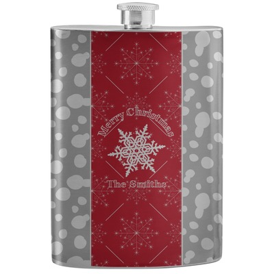 Snowflakes Stainless Steel Flask (Personalized)