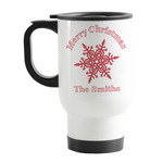 Snowflakes Stainless Steel Travel Mug with Handle