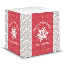Snowflakes Sticky Note Cube (Personalized)
