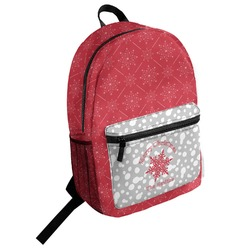Snowflakes Student Backpack (Personalized)