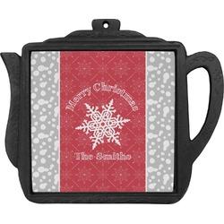 Snowflakes Teapot Trivet (Personalized)