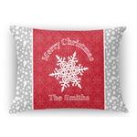 Snowflakes Rectangular Throw Pillow Case (Personalized)