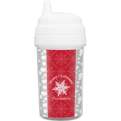 Snowflakes Toddler Sippy Cup (Personalized)
