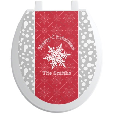 Snowflakes Toilet Seat Decal (Personalized)