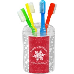 Snowflakes Toothbrush Holder (Personalized)
