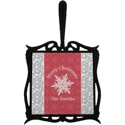 Snowflakes Trivet with Handle (Personalized)