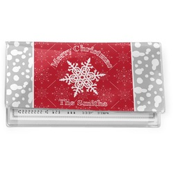 Snowflakes Vinyl Check Book Cover (Personalized)