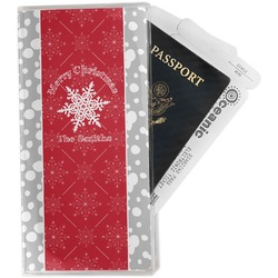 Snowflakes Travel Document Holder