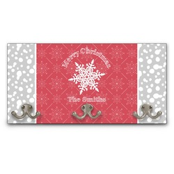 Snowflakes Wall Mounted Coat Rack (Personalized)