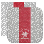Snowflakes Facecloth / Wash Cloth (Personalized)