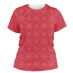 Snowflakes Women's Crew T-Shirt (Personalized)