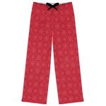 Snowflakes Womens Pajama Pants (Personalized)