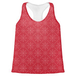Snowflakes Womens Racerback Tank Top (Personalized)