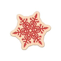 Snowflakes Genuine Wood Sticker (Personalized)