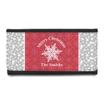 Snowflakes Leatherette Ladies Wallet (Personalized)