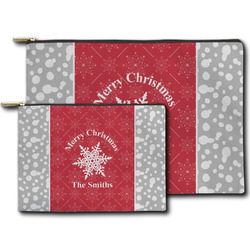 Snowflakes Zipper Pouch (Personalized)