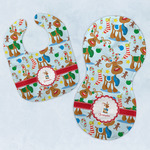 Reindeer Baby Bib & Burp Set w/ Name or Text