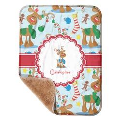 "Reindeer Sherpa Baby Blanket 30"" x 40"" (Personalized)"