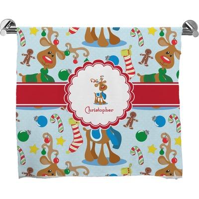 Reindeer Bath Towel (Personalized)