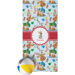 Reindeer Beach Towel (Personalized)