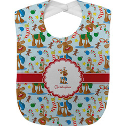 Reindeer Baby Bib (Personalized)