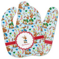 Reindeer Baby Bib w/ Name or Text